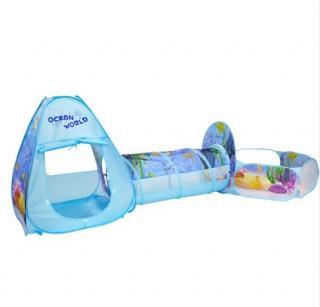 Dětský stan s tunelem a ohrádkou - Oceán