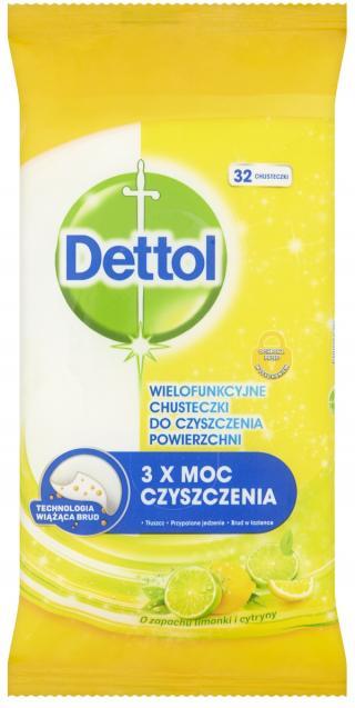 DETTOL Antibakteriální ubrousky na povrchy 36 ks – Citron a Limeta mix barev