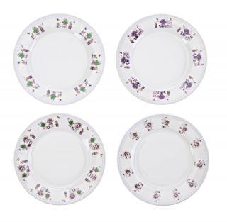 Dezertní talíře levandule, 4 ks
