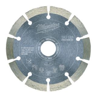 Diamantový řezací kotouč profesionální Milwaukee DU 125x22,2mm