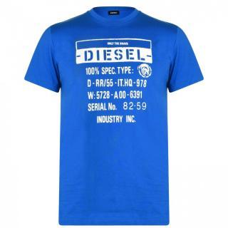 Diesel Text Graphic T Shirt pánské Other M