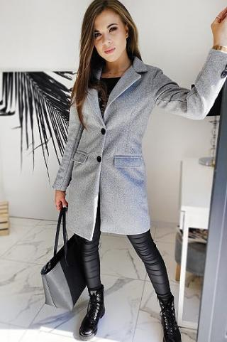 DIVA womens single-breasted coat light gray NY0389 dámské Neurčeno L