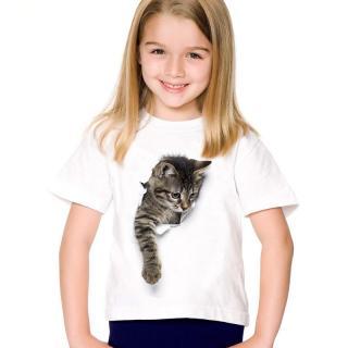 Dívčí 3D tričko s kočkou - 7 variant Velikost: 2, Varianta: A