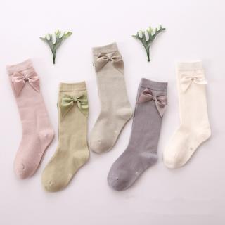 Dívčí bavlněné ponožky s mašlí - 5 párů Velikost: 3-5 let