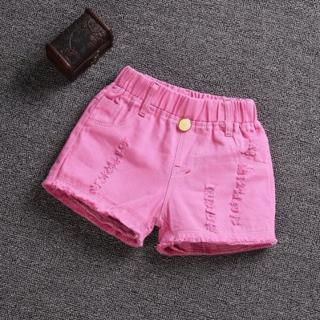 Dívčí bavlněné šortky - 5 barev Barva: růžová, Velikost: 3