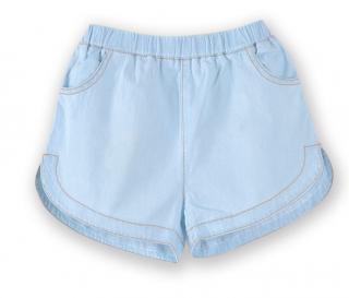 Dívčí džínové kraťasy - Světle modré Velikost: 3
