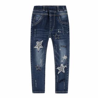 Dívčí džíny s potiskem hvězd Velikost: 2