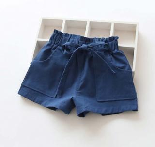 Dívčí kraťasy - 6 barev Barva: tmavě modrá, Velikost: 2