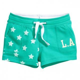 Dívčí kraťasy L.A s hvězdami - Zelené Velikost: 2