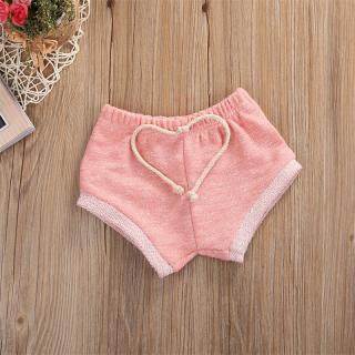 Dívčí krátké kraťasy pro batolata - 3 barvy Barva: růžová, Velikost: 3-6 měsíců