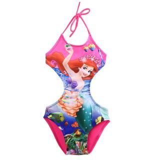 Dívčí plavky se zajímavým potiskem - 2 barvy Barva: růžová, Velikost: 3