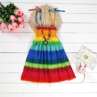Dívčí plážové šaty - Duhové Velikost: 3