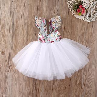 Dívčí šaty jako pro baletku - 2 barvy Barva: bílá, Velikost: 3-6 měsíců