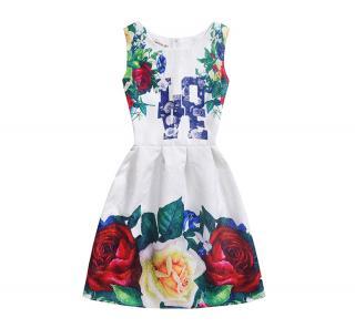 Dívčí šaty LOVE s potiskem květin Velikost: 5