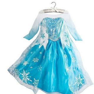 Dívčí šaty - Princezna Elsa s vločkami Velikost: 3