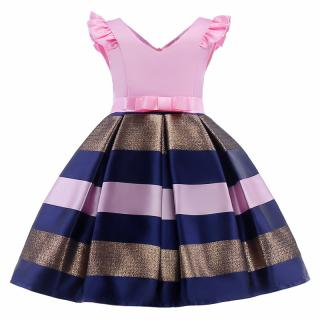 Dívčí šaty pro princeznu - 3 barvy Barva: růžová, Velikost: 3