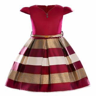Dívčí šaty pro princezny - 2 barvy Barva: červená, Velikost: 3