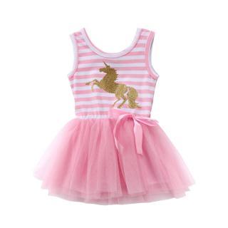 Dívčí šaty s jednorožcem - Růžové Velikost: 9-12 měsíců