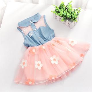 Dívčí šaty s květinami - 2 barvy Barva: růžová, Velikost: 6-9 měsíců