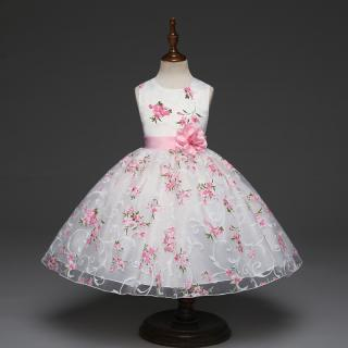Dívčí šaty s květinami Velikost: 4