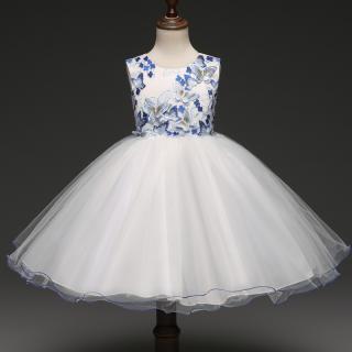 Dívčí šaty s motýli Barva: modrá, Velikost: 4