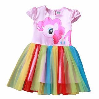 Dívčí šaty s poníkem - 3 varianty Velikost: 4, Varianta: A