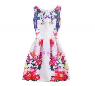 Dívčí šaty s potiskem květin Velikost: 6