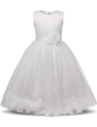 Dívčí šaty s růžemi - 6 barev Barva: bílá, Velikost: 6-9 měsíců