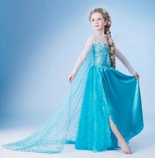 Dívčí šaty ve stylu Princezna Elsa Velikost: 4