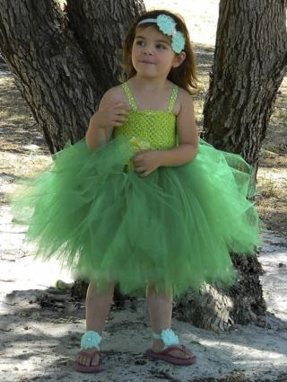 Dívčí šaty - Víla Zvonilka Velikost: 2