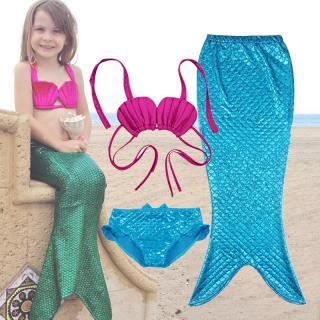 Dívčí set plavek mořské panny Liverto - modré