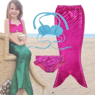 Dívčí set plavek mořské panny Liverto - růžový