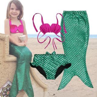 Dívčí set plavek mořské panny Liverto - zelený