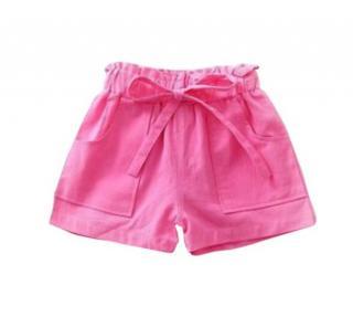 Dívčí šortky - 6 barev Barva: tmavě růžová, Velikost: 3