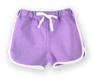 Dívčí sportovní kraťasy - 8 barev Barva: fialová, Velikost: 3