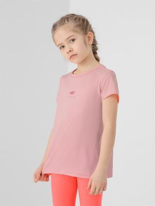 Dívčí sportovní tričko  oranžový 122/128