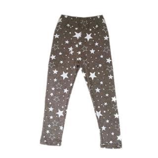 Dívčí tepláky s hvězdami - 6 barev Barva: hnědá, Velikost: 2