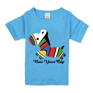 Dívčí tričko - Barevný kůň - 4 barvy Barva: světle modrá, Velikost: 9-12 měsíců