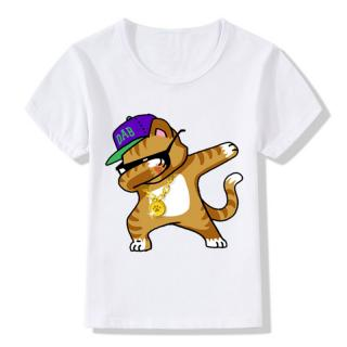 Dívčí tričko dabbing - Zvířata s kšiltovkou - 4 varianty Velikost: 3, Varianta: zrzavá kočka