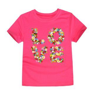 Dívčí tričko LOVE - 12 barev Barva: růžová, Velikost: 2