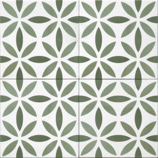 Dlažba Tonalite Aquarel verde antares 15X15 cm mat AQUANTVE zelená verde