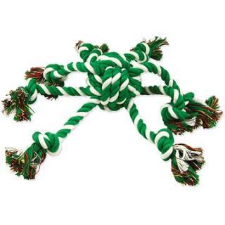DOG FANTASY Přetahovadlo chobotnice zeleno-bílé 7/45cm