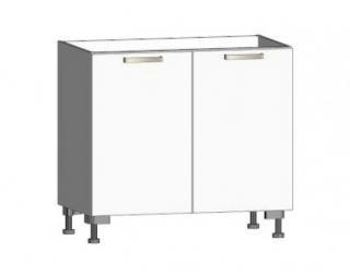 Dolní kuchyňská skříňka One ES90, bílý lesk, šířka 90 cm Bílá