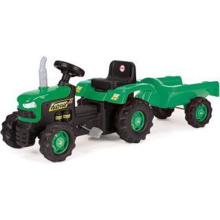 Dolu Dětský traktor šlapací s vlečkou zelený pánské