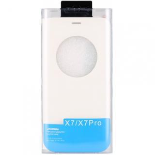 DOOGEE flipové pouzdro S-View DOOGEE X7/X7 Pro white   tvrzené sklo