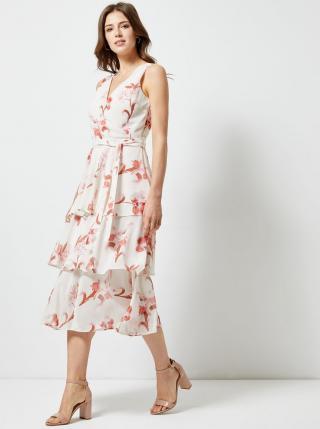 Dorothy Perkins bílé květované šaty - XS dámské bílá XS