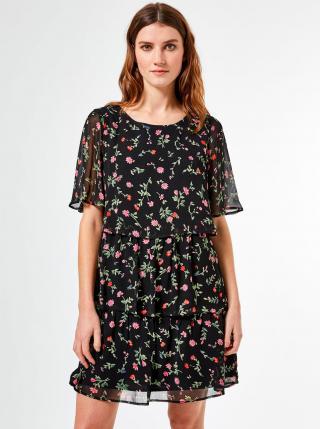 Dorothy Perkins černé květované šaty - XS dámské černá XS
