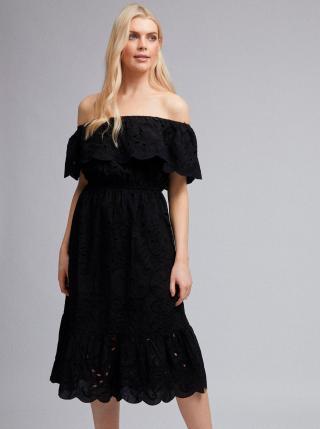 Dorothy Perkins černé šaty s madeirou - XS dámské černá XS