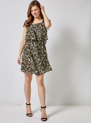 Dorothy Perkins khaki šaty se vzory - L dámské L