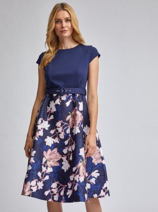 Dorothy Perkins modré květované šaty - XS dámské modrá XS